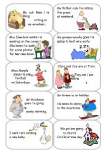 printable tarot cards esl english worksheets present simple present continuous