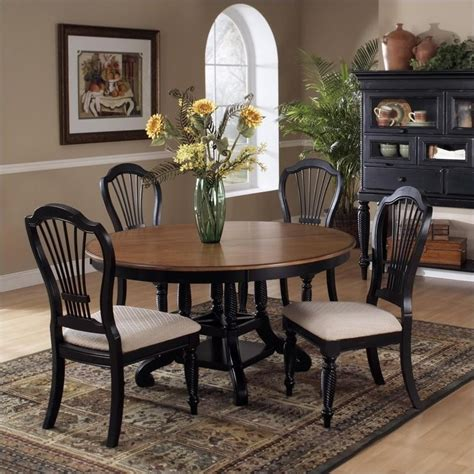 7 piece round dining room set wilshire 7 piece round dining table set in pine and rubbed
