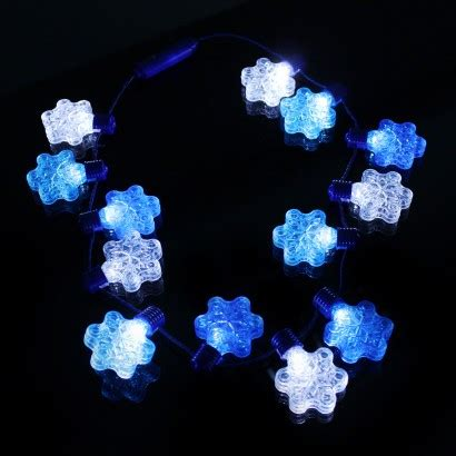 wholesale light up snowflake party necklace