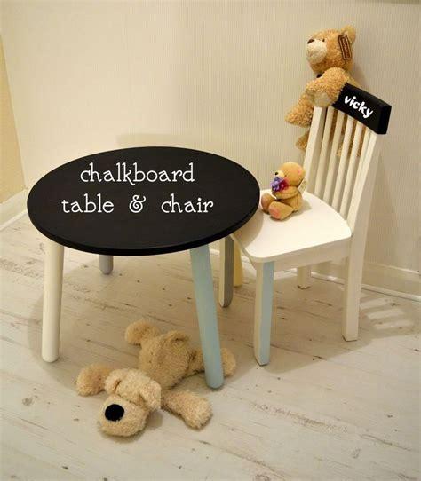 sold free delivery kids table chair chalkboard blackboard