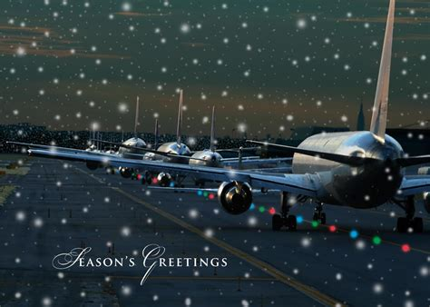 runway lights aviation holiday card aviation by brookhollow