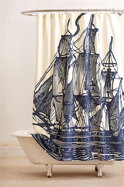 anthro shower curtain elizabethan sails shower curtain anthropologie