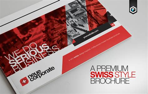 rw swiss modern corporate brochure brochure templates on