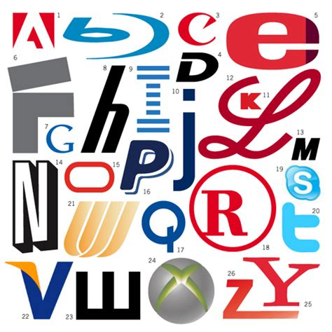 logo alphabet a z parodies logo design
