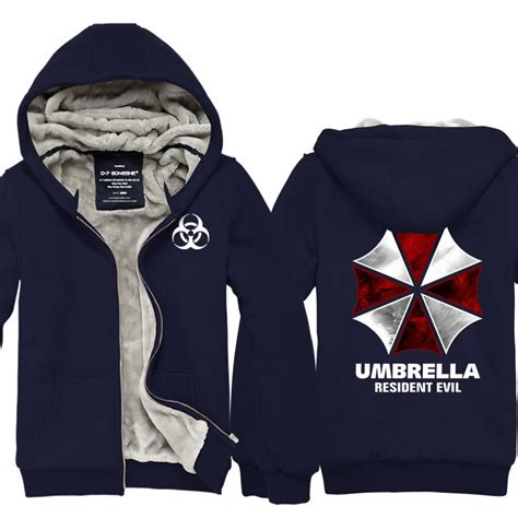 Hoodie Jaket Evil Corp Sweater Warung Kaos high qualitybiohazard umbrella corporation resident evil coat costume hoodie jacket in
