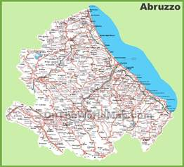 detailed map of cities and towns large detailed map of abruzzo with cities and towns