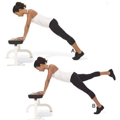 plank with feet on bench 17 best images about abdominal fitness on pinterest