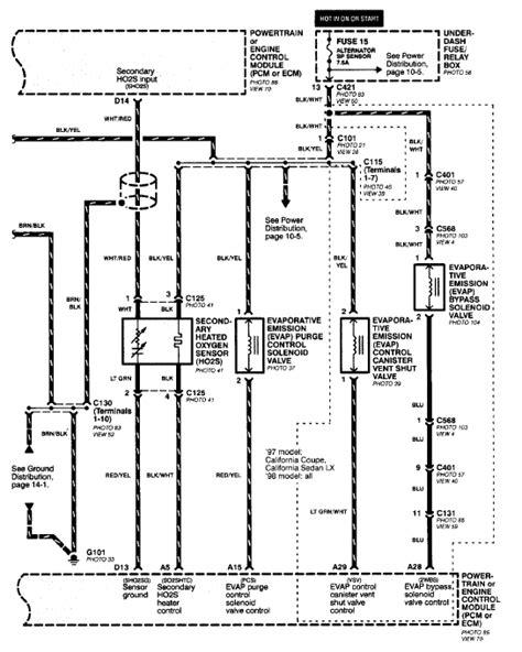 99 civic o2 sensor wiring diagram 33 wiring diagram