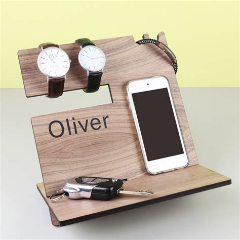 mens personalised wooden accessory stand lisa angel