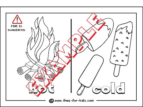 opposites coloring pages preschool hot and cold worksheets for kindergarten hot and cold