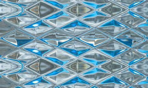 blue pattern glass zo 235 design glass wallpaper
