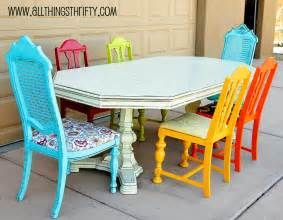 Kitchen Table Colors Dining Room Table Transformation