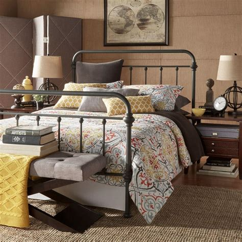 grey king bed homesullivan calabria grey king bed frame 40e411bk 1gabed