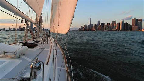 sailing boat nyc sailboat water music yacht rental in jersey city