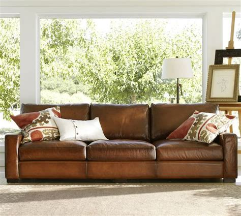 sofas like pottery barn turner square arm leather sofa