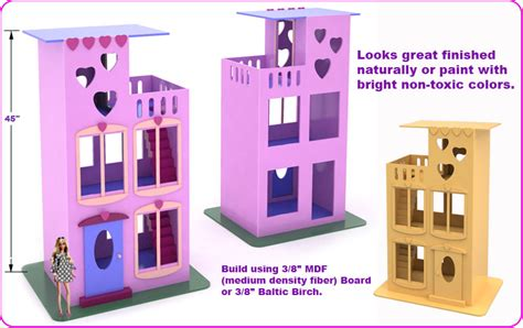 building a barbie doll house toymakingplans com fun to make wood toy making plans how to s for the scroll saw