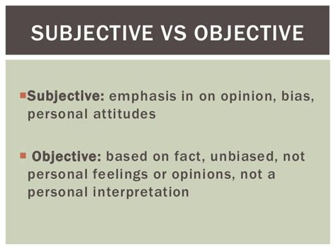 subjective and objective statements en2120 news writing and reporting