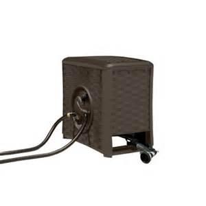 home depot water hose reel suncast 125 ft aquawinder auto rewind hose reel rsp125