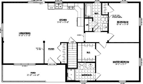 28x48 Floor Plans | certified homes frontier style certified home plans