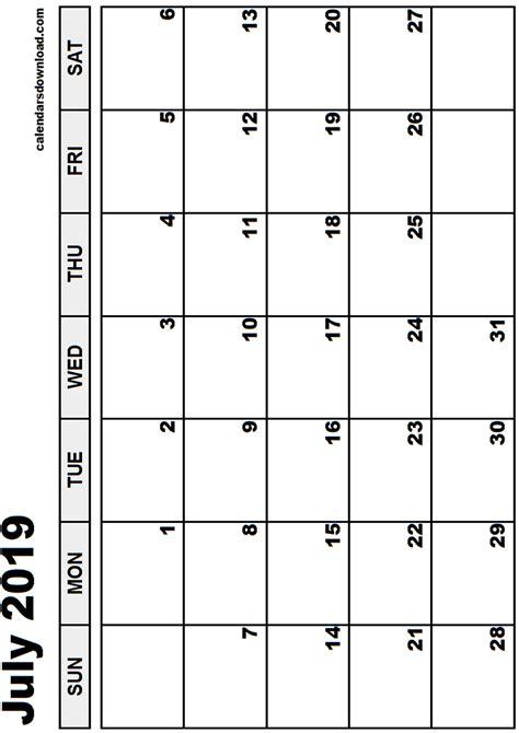 printable calendars july july 2019 calendar