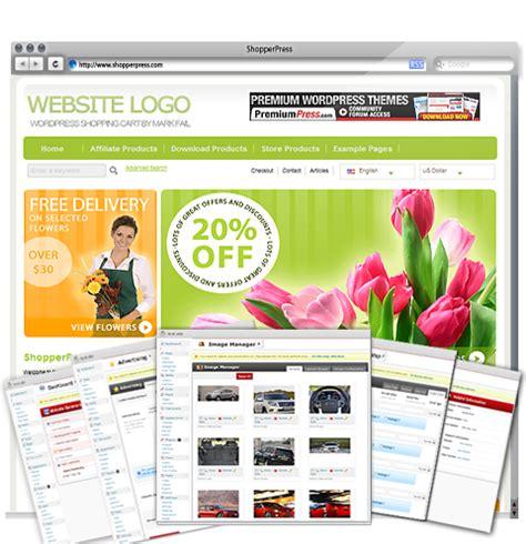 themes wordpress shopping cart free wordpress shopping cart shopperpress 10 000 users