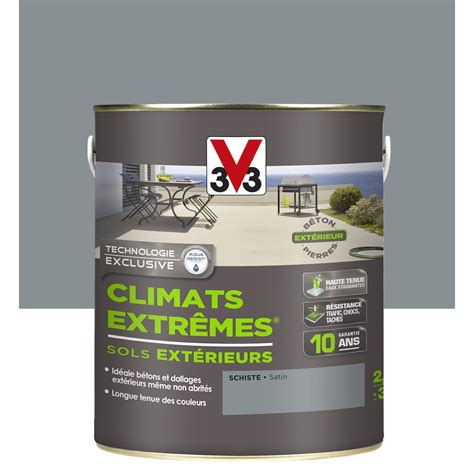 Dalle De Schiste Leroy Merlin 4615 by Peinture Sol Ext 233 Rieur Climats Extr 234 Mes V33 Gris Schiste