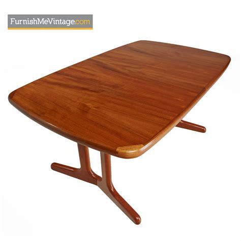 trestle base dining table teak trestle base dining table vintage modern