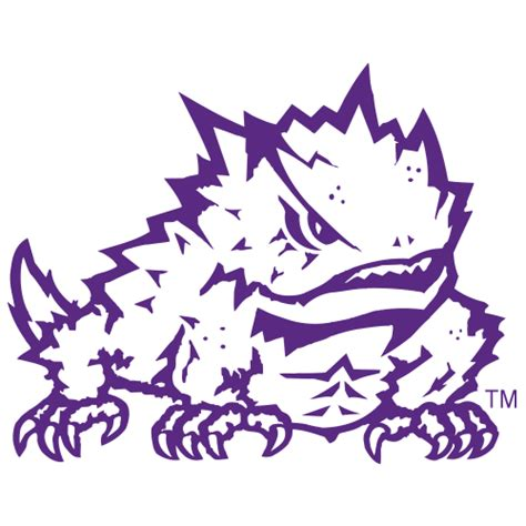 logo texas christian university horned frogs frog fanapeel