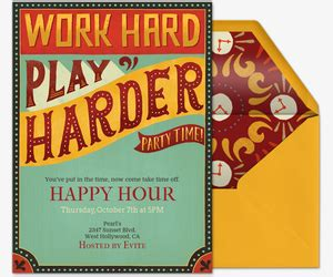 Free Happy Hour Online Invitations Evite Free Happy Hour Invitation Template