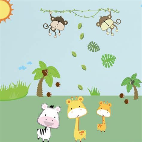 Wandtattoo Kinderzimmer Safari by Wandsticker Mega Set Baby Safari Tiere