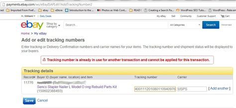 ebay tracking solved ebay will not accept tracking number the ebay