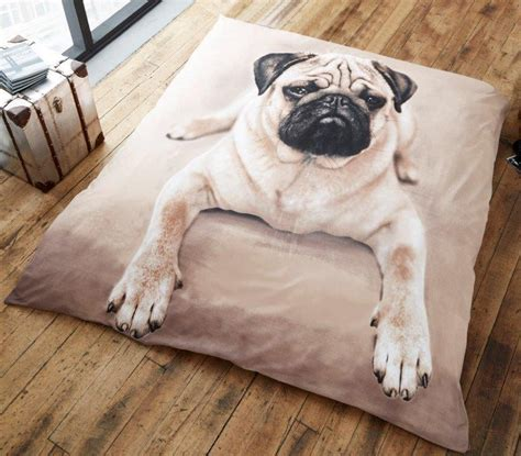 pug bed sheets 3d pug faux fur blankets or duvet quilt cover set in