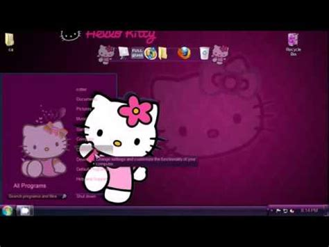 hello kitty pc themes free download hello kitty desktop sep 2011 download youtube
