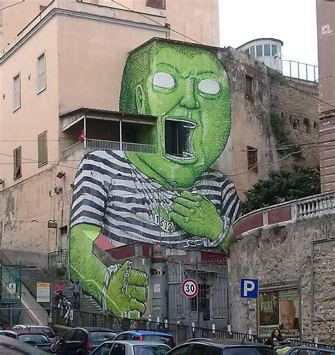 green giant  blu  napoli italy streetartnews