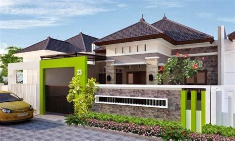 pilihan terbaik warna cat pagar rumah  taman tropis
