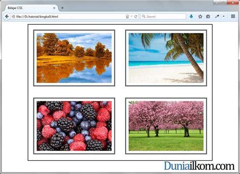 membuat gallery html tutorial css membuat gallery gambar dengan html dan css