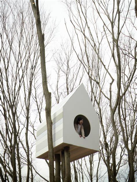 tree house bird apartment by nendo