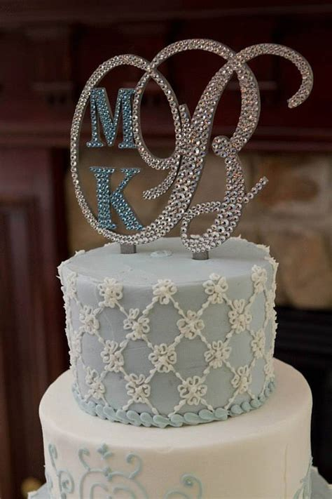 letter w wedding cake topper monogram wedding cake topper initial any letter a