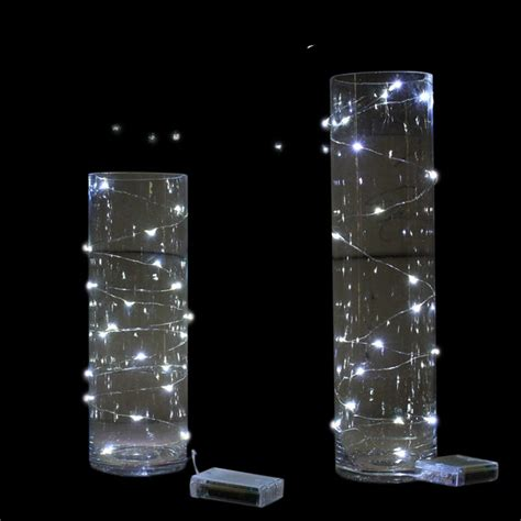 Battery Operated Lights For Vases by 12 X 2m Cool White Wire String Battery Operated