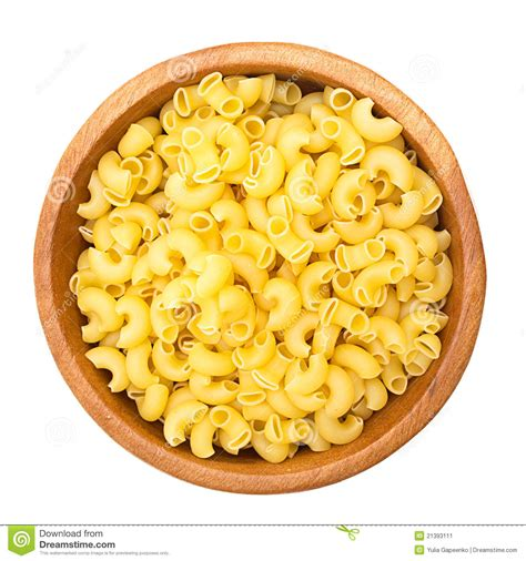 uncooked pasta   wooden bowl stock image image