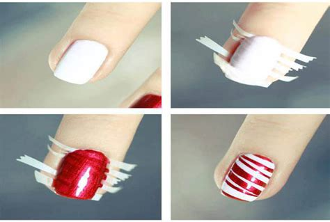 easy nail art with tape step by step 25 nail art designs tutorials step by step for beginners