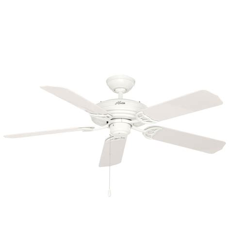 hunter ceiling fans home depot hunter original 52 in indoor outdoor white ceiling fan