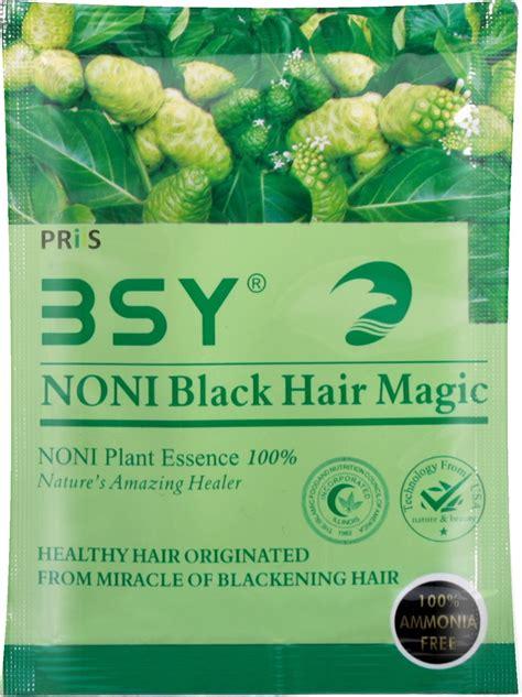 Sho Bsy Noni Black Hair Magic bsy noni black hair magic fruit shoo 20ml x 5 sachet
