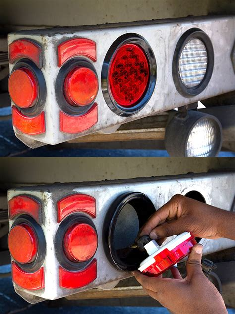 led truck and trailer lights w built in reflector