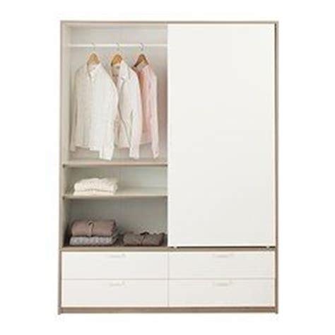 trysil wardrobe w sliding doors 4 drawers white light