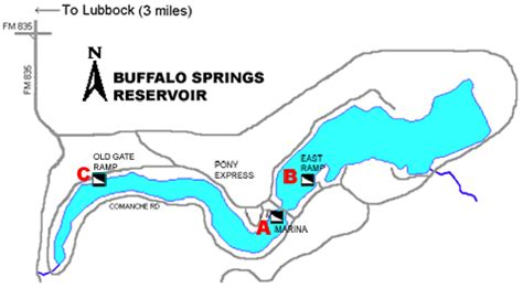 texas bank fishing map access to buffalo springs lake