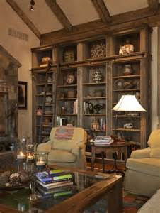 Rustic Built In Bookshelves Rustic Bookcases The Feeling Of Home