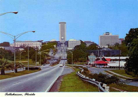 Tallahassee Records Florida Memory Apalachee Parkway Approach To Tallahassee And Florida S State Capitol