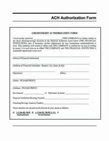 authorization form template ach authorization form template besttemplates123