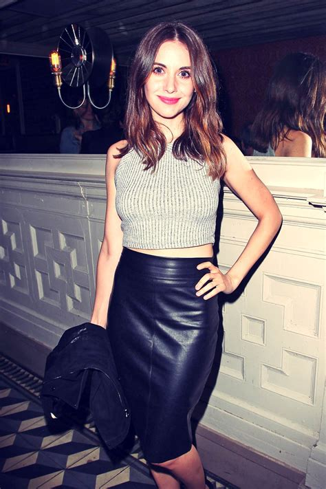 alison brie attends    afterparty leather